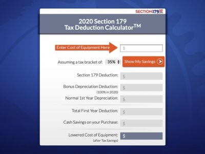 Section 179 Increased to $1,040,000 for 2020!